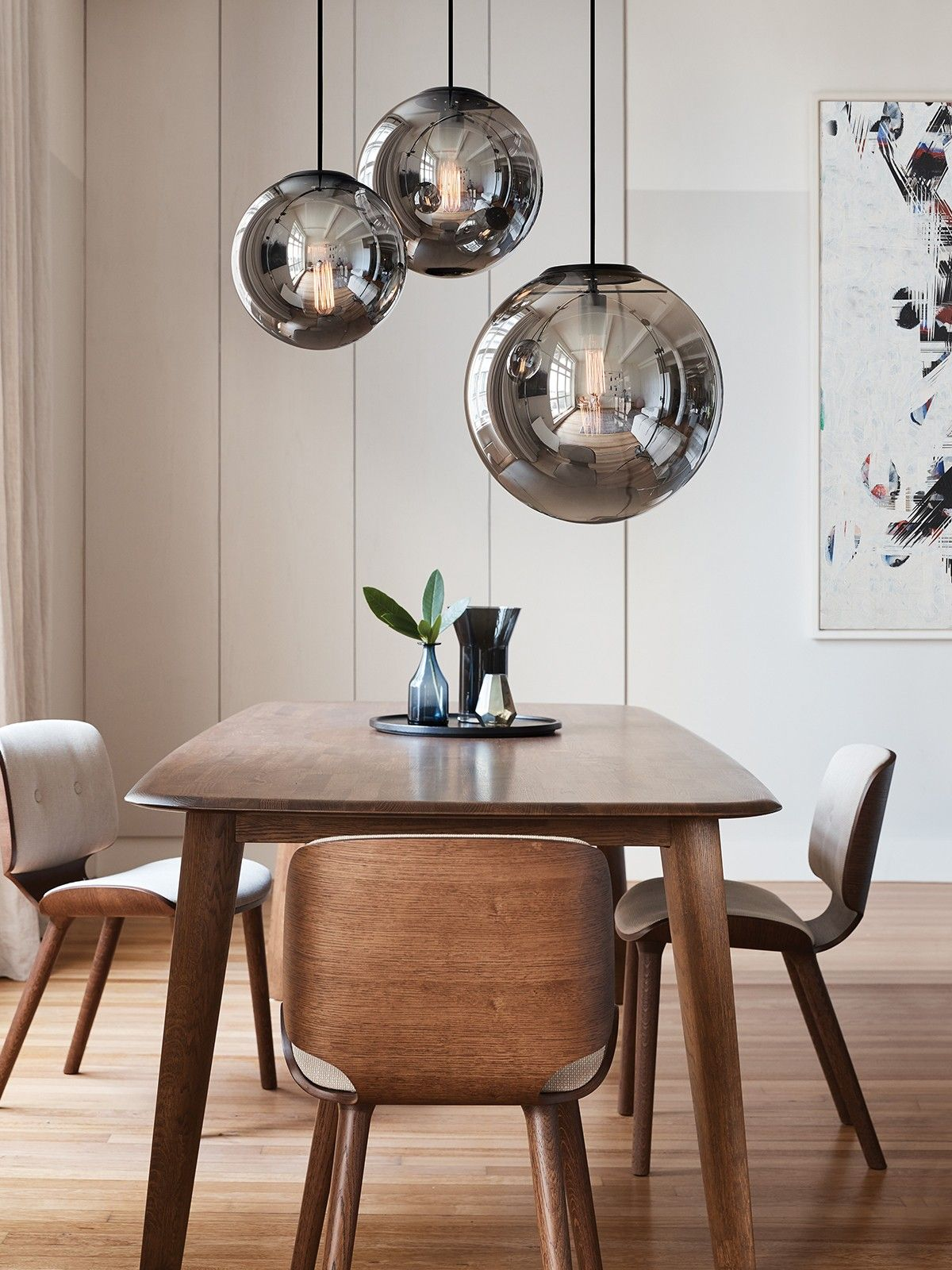 Lights Over Dining Table Marcel 250mm Pendant In Smoke Black Modern Pendants Pendant