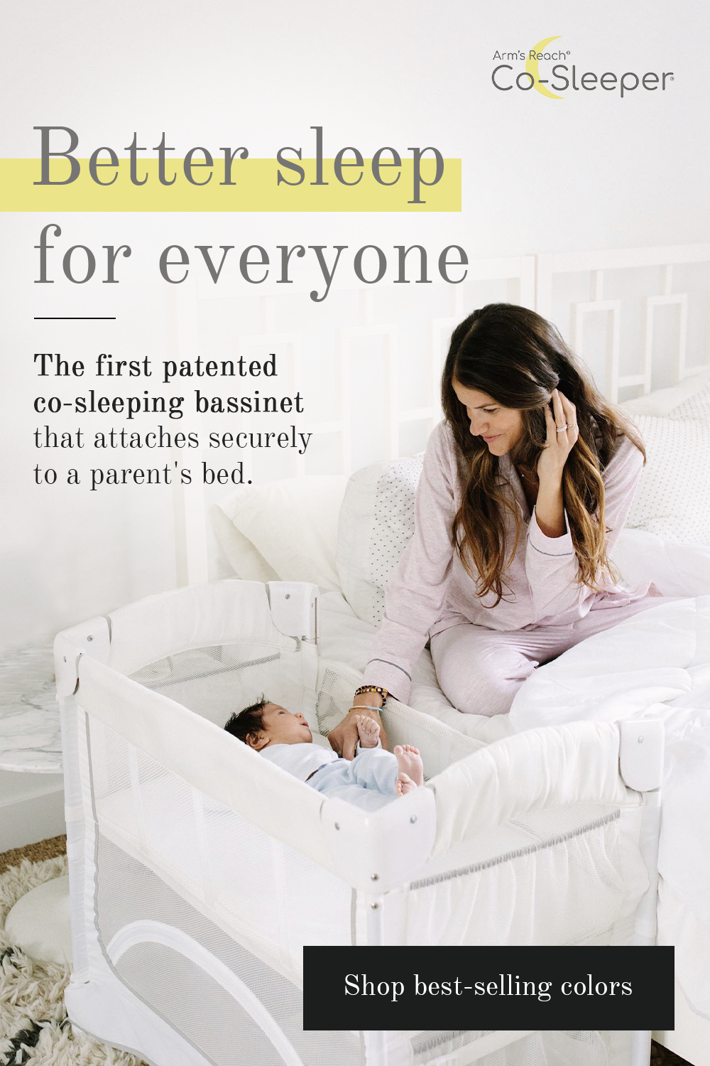 A Cosleeper baby encourages healthy bonding