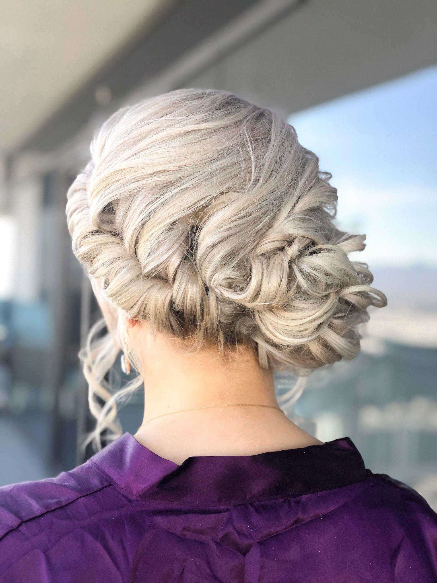 Braided low updo in 2020 vegas hair mobile hair