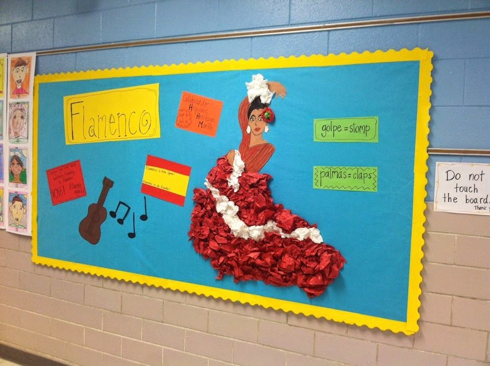 Foreign Language Classroom Decorations ~ Señora speedy bulletin board ideas classroom decor
