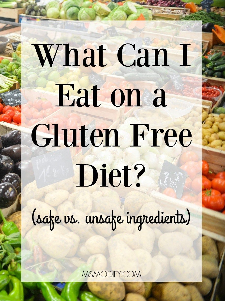 What can I eat on a gluten free diet #glutenfree