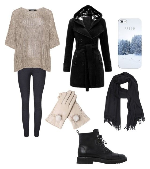 """""""Winter outfit"""" by sara-beatrice-lazar ❤ liked on Polyvore featuring navabi, Casetify, Giuseppe Zanotti and A.P.C."""