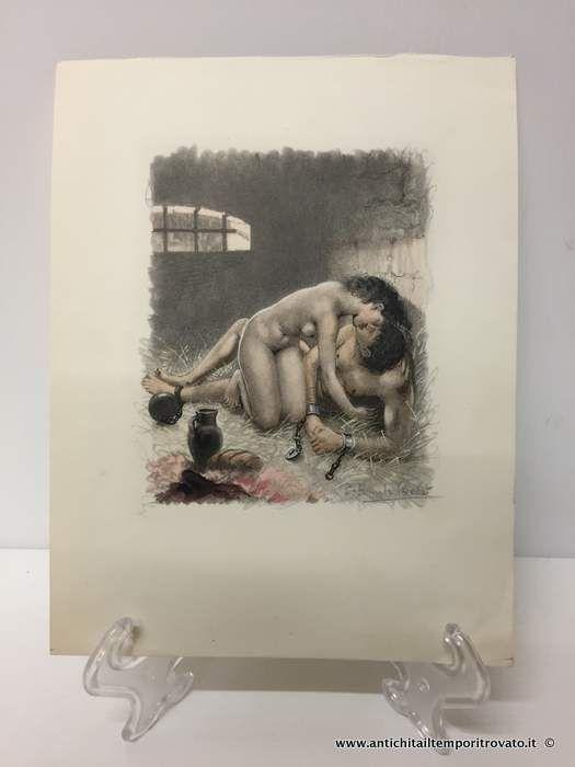 Oggettistica d epoca stampe e dipinti incisioni di p for Erotismo d epoca