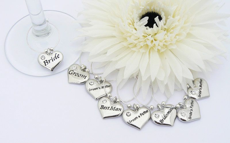 charms | Wedding Table Decoration Wine Glass Charms - Set of 8 ...