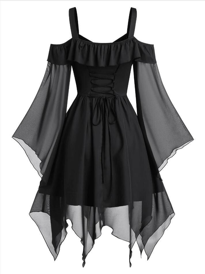 Black Gothic Dress – Free Shipping – Clothing