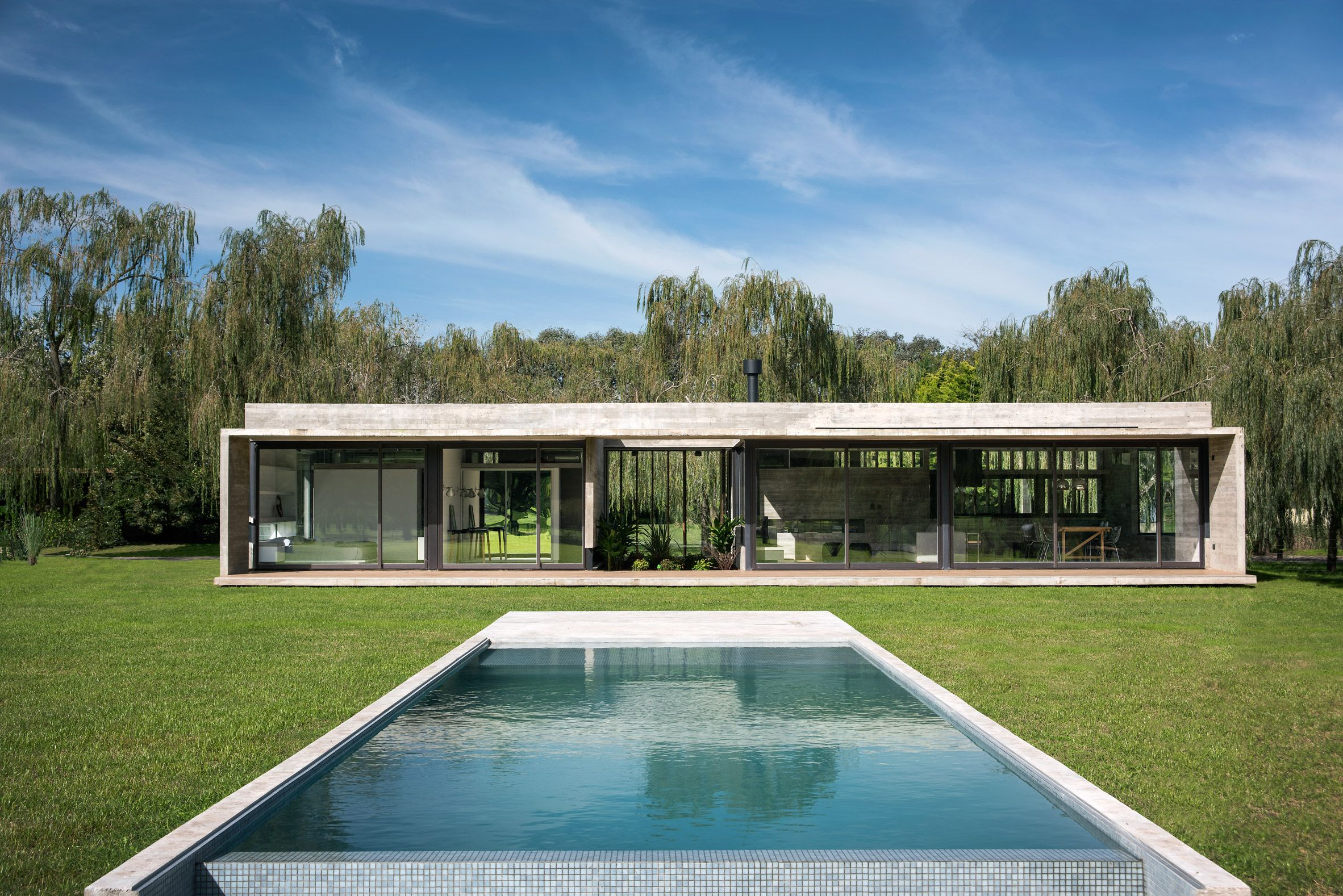 Ignant Architecture Luciano Kruk Rodriguez House 2 House Storey Homes Concrete House