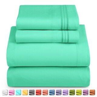 petite Nestl Bedding Extra-Soft Microfiber Bed Sheet Set (Full XL - Mint), Black