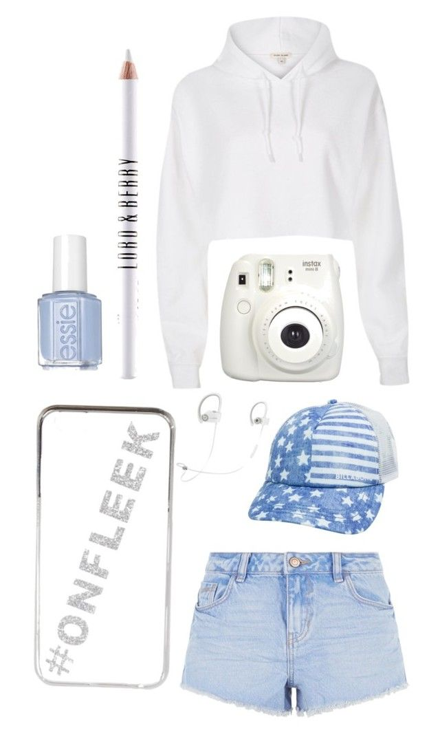 """""""Blue and white"""" by graceeverett8 ❤ liked on Polyvore featuring River Island, New Look, Billabong, Beats by Dr. Dre and Lord & Berry"""
