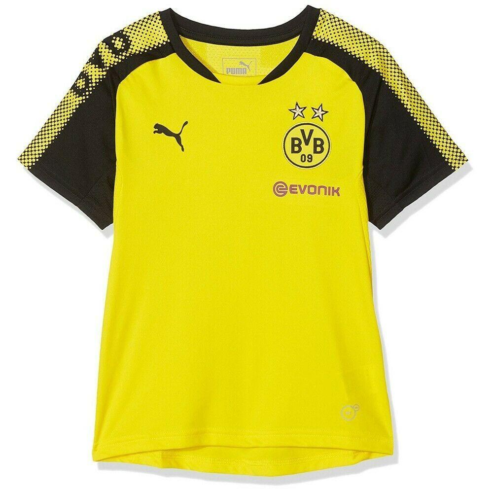 Borussia Dortmund Garçon Maillot de Football Jaune Puma Noir