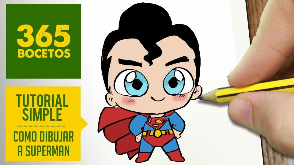 Super Heroes Animados Niños: Superman Drawing, Kawaii