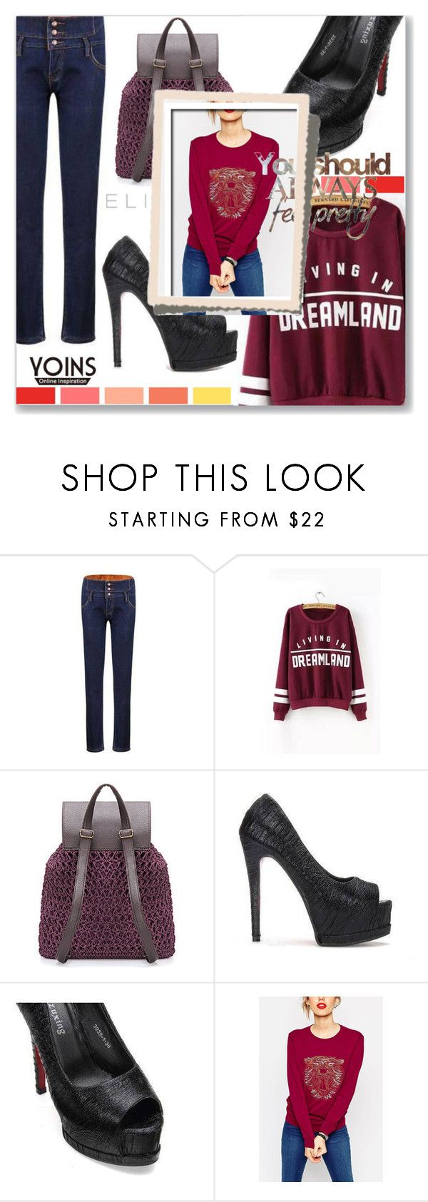"""""""YOINS"""" by kriz-nambikatt on Polyvore featuring Elie Saab and yoins"""