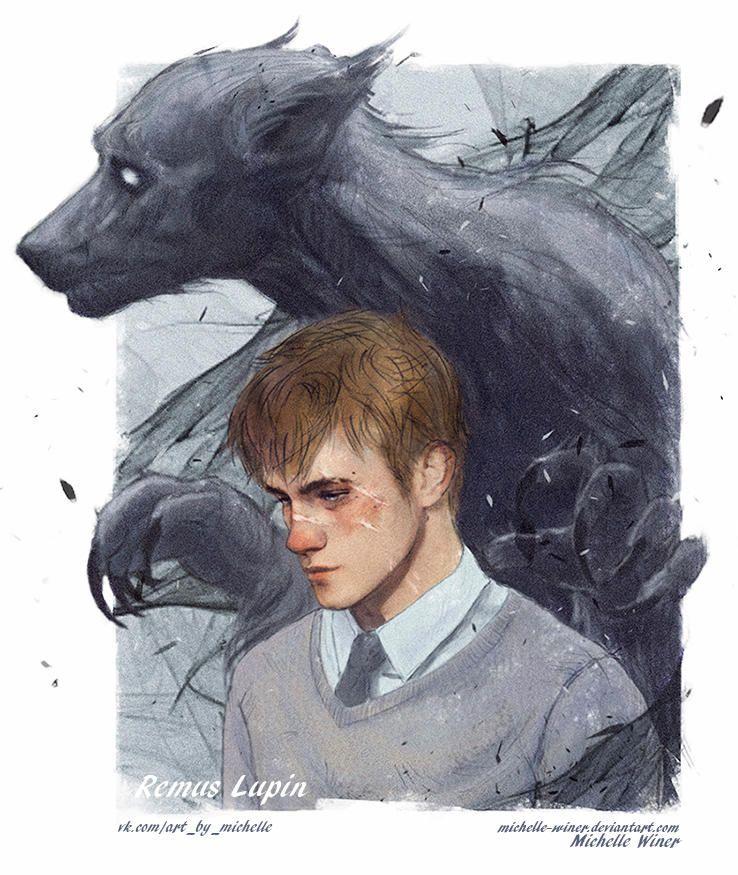 Remus Lupin Werewolf By Michelle Winer Harry Potter Fan Art Harry Potter Art Remus