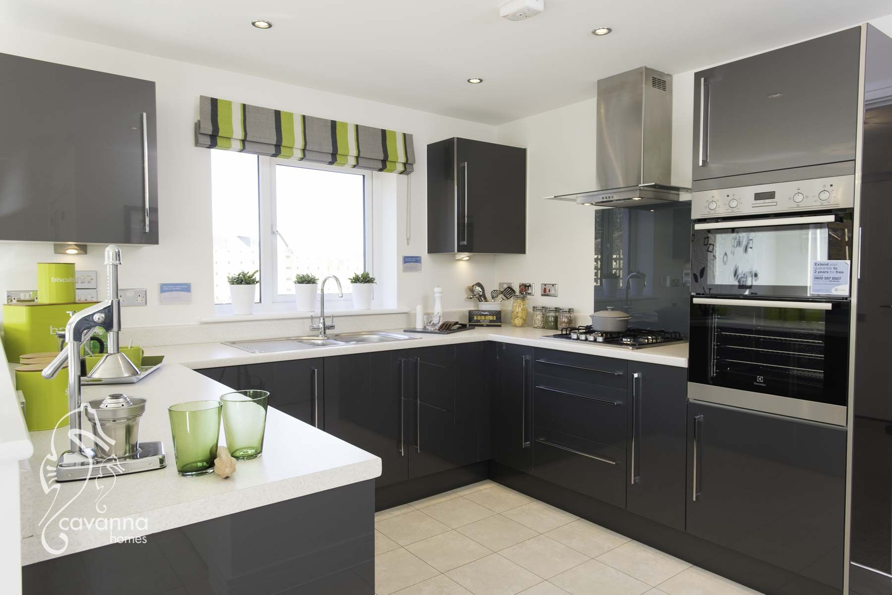 Best Grey Kitchen 4 Bedroom Show Home New Home Lime Green 400 x 300
