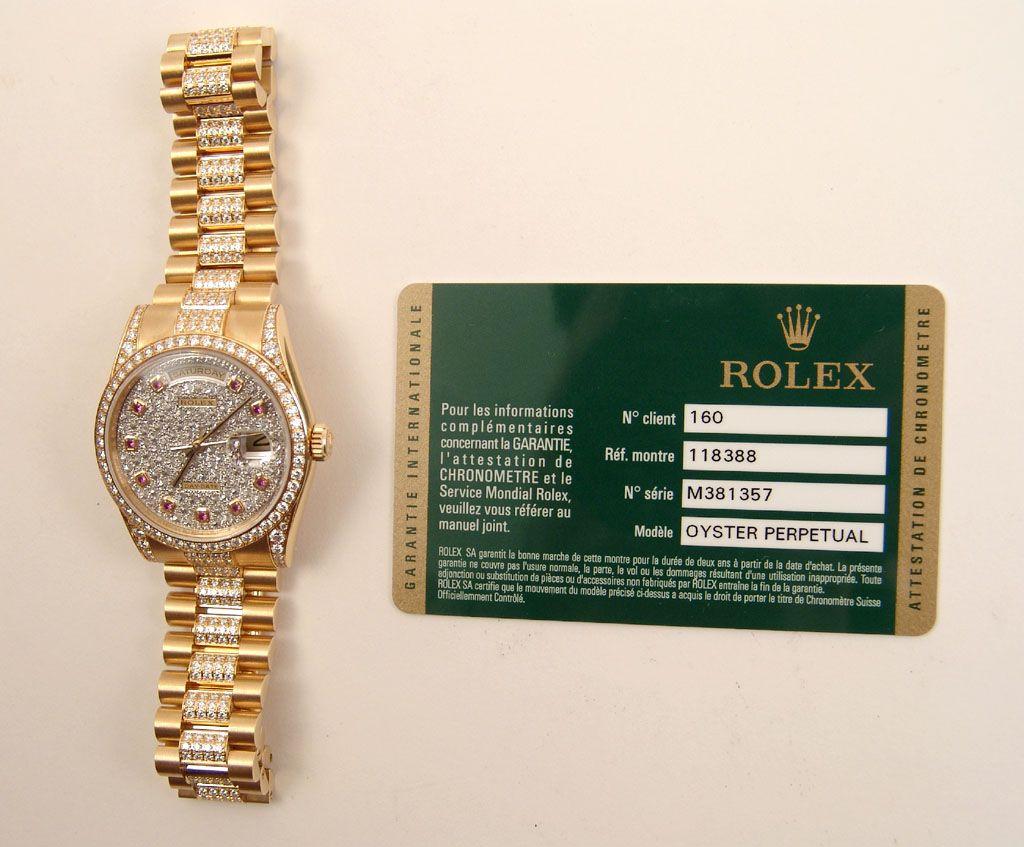 c0573df94f3ab My perfect totally original Rolex 18ct gold Day Date ruby diamond watch  with original full Rolex diamond set bracelet.