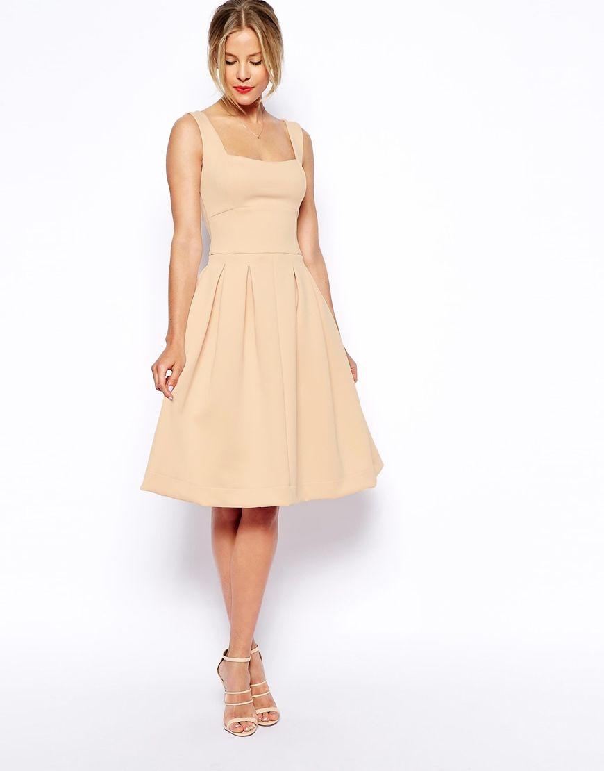 9a72e89c995 ASOS Sleeveless Debutante Midi Dress