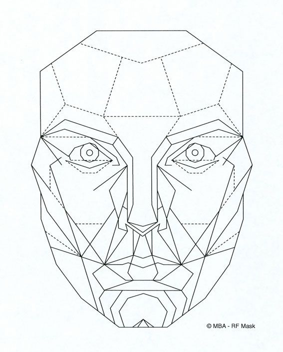 Rfmask Printable Perfect Face Anatomy With Photoshops Liquify Tool Geometric Face Face Drawing Face Template