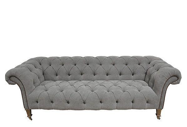 One Kings Lane Calm Cool Furniture Linen Sofa Sofa