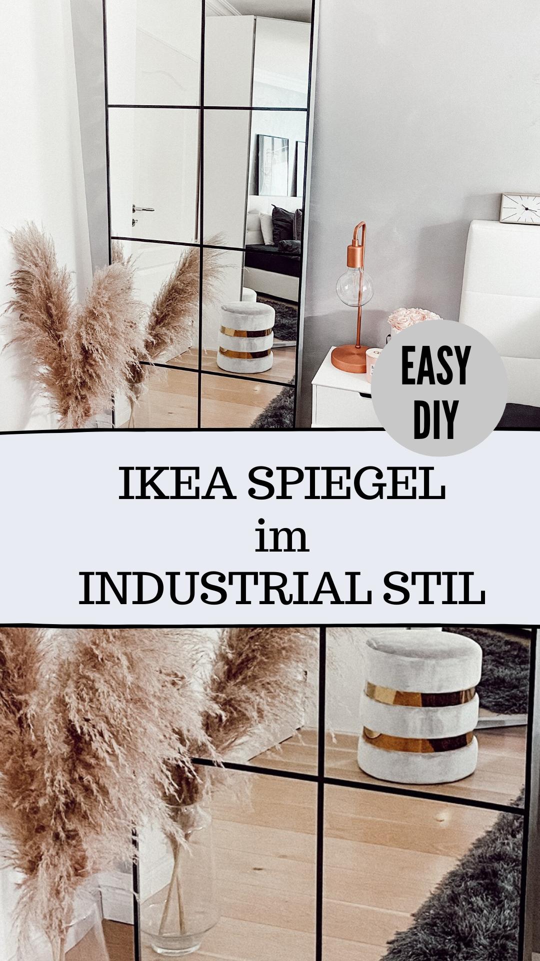 Photo of SPIEGEL IM INDUSTRIAL STIL DIY – GRID MIRROR IKEAHACK SUPER EINFACH – Unalife