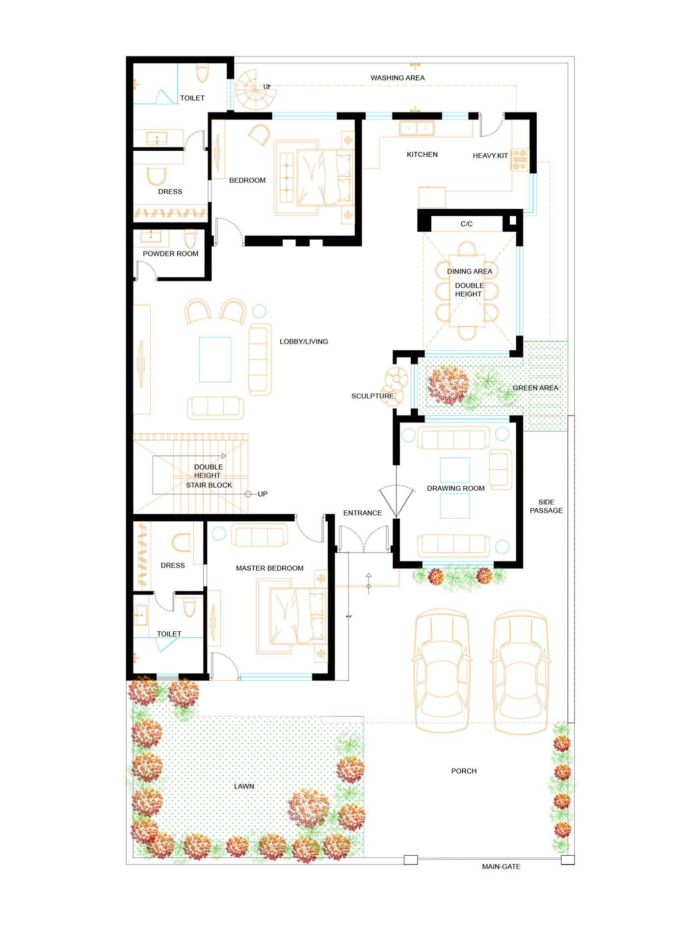 Residence Designed For Client In Ludhiana India House Layout Plans Beautiful House Plans Home Design Floor Plans