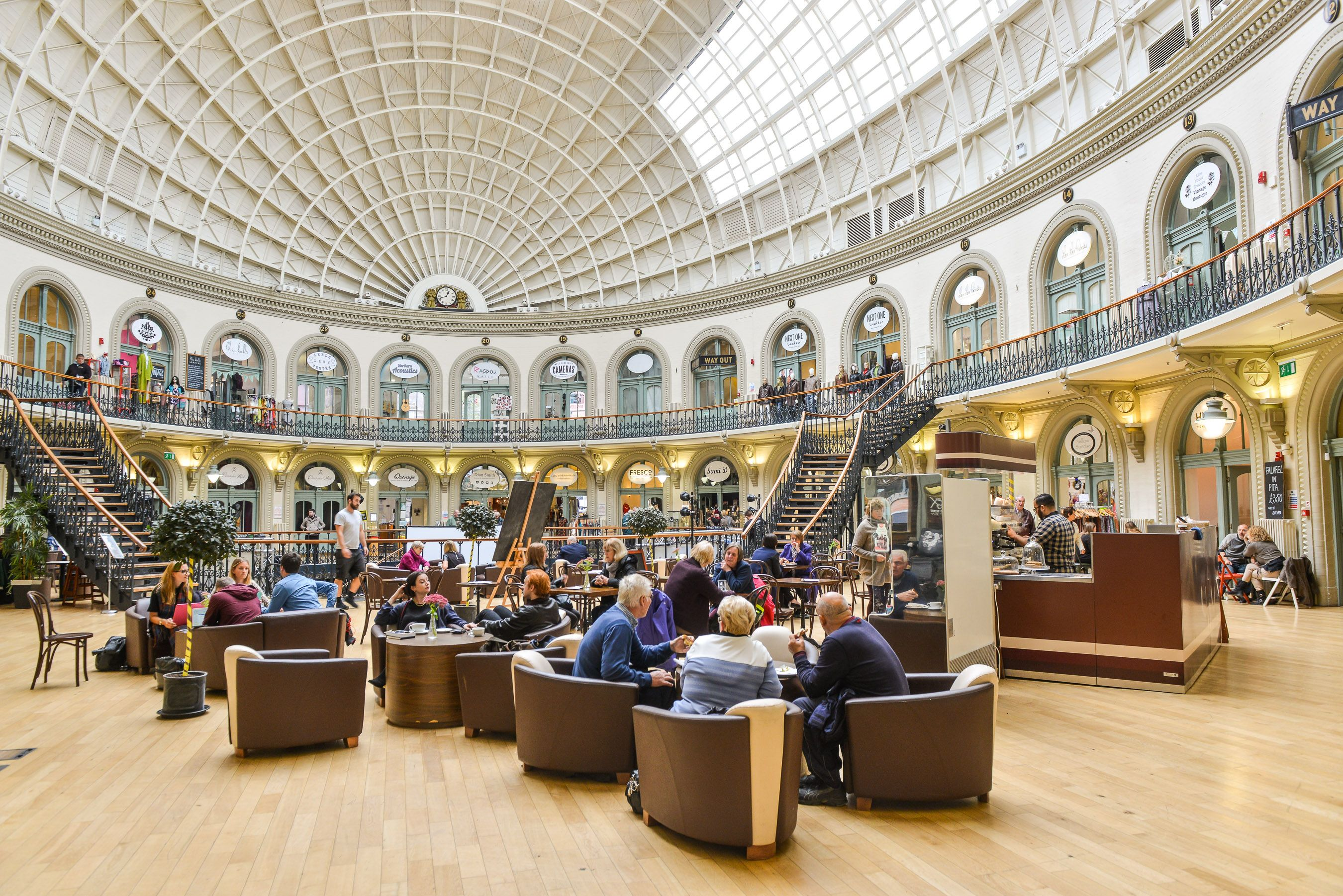Inside Leeds Corn Exchange