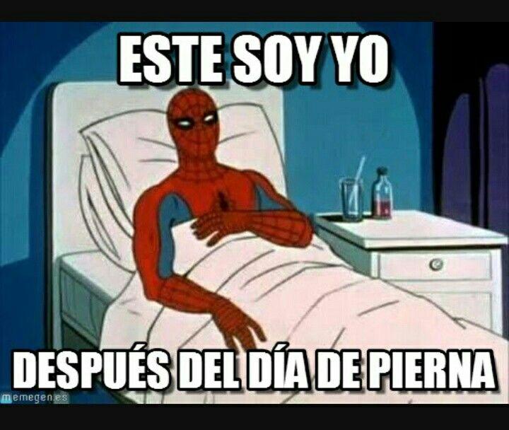 Dia De Pierna Spiderman Spiderman Meme Sick Meme