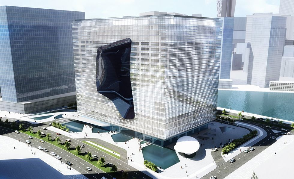 Zaha Hadid Architects - The Opus Office Tower Project in Dubai