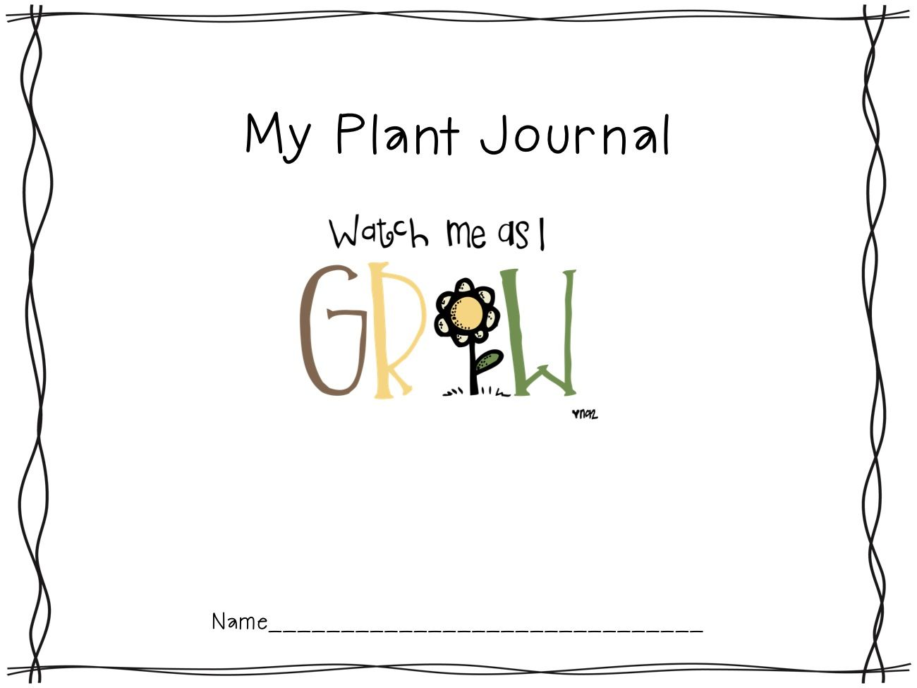 Freebie Plant Journal And Calendar From Educating To The Core