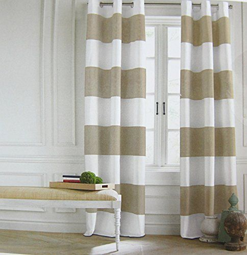 Tommy Hilfiger Cabana Stripes Curtains 2 Panels 50 by 96-inch Extra ...
