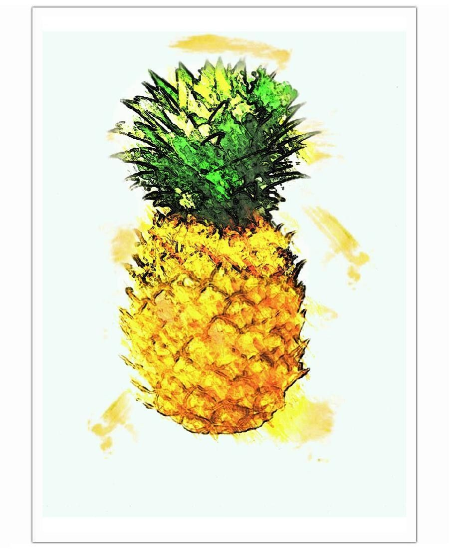 Pineapple. Slice of Summer Art Print by Xchange Studio now on Juniqe.com | Art. Everywhere.