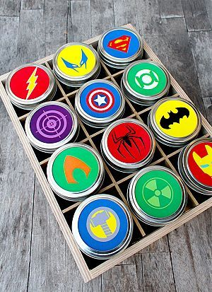 Free Printable Superhero Mason Jar Toppers