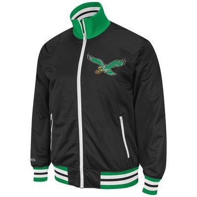 ba8e3e25 Philadelphia Eagles Throwback Preseason Warm-up Track Jacket | My ...