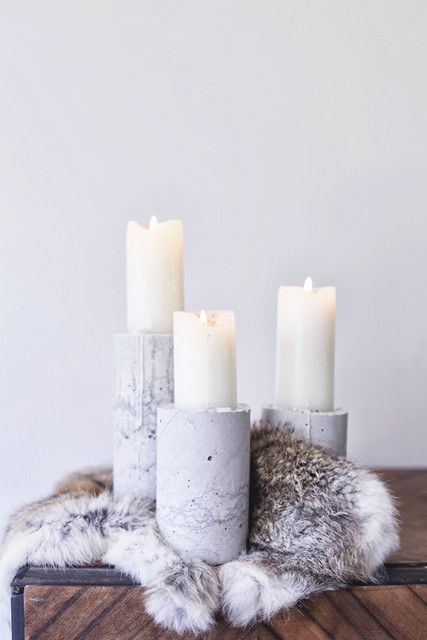 Diy Of The Week Minimal Concrete Candle Holders Concrete Candle Holders Diy Concrete Candle Holders Concrete Candle