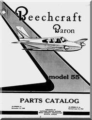 Beechcraft Baron 55 Aircraft Parts Catalog Manual 1961 Beechcraft Baron Aircraft Parts Aircraft