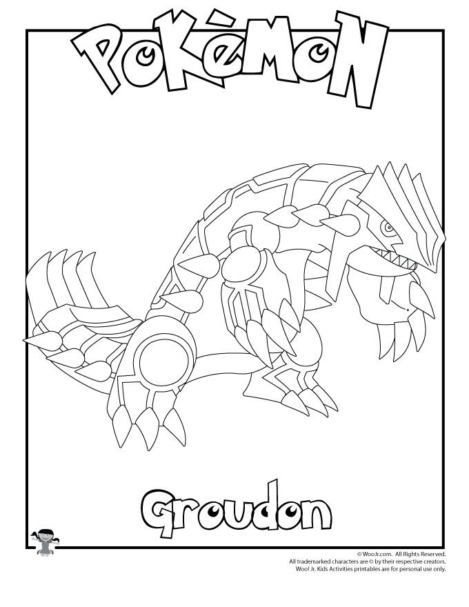 Groudon Coloring Page Coloring Pages Pokemon Coloring Pages