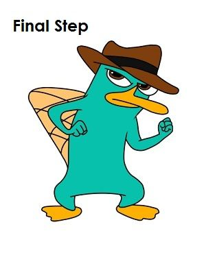 draw perry the platypus final step things to draw pinterest