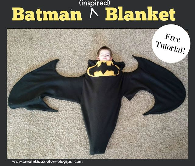 Batman Blanket Free tutorial using our free shark/mermaid tail ...