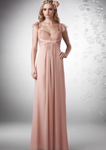 Flutter sleeve and empire waist wedding dress stylish for Empire waist wedding dress with sleeves