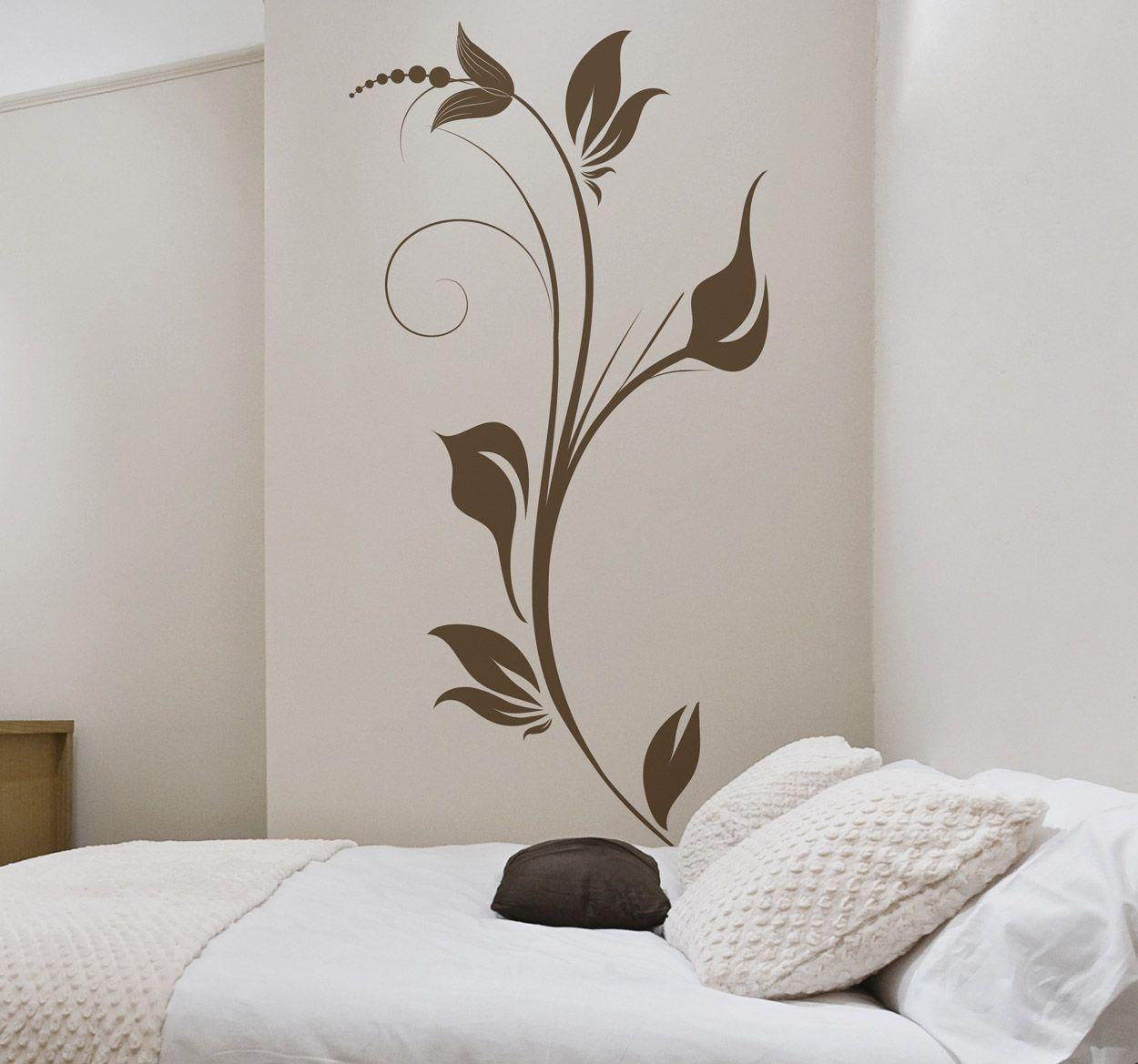 Vinilo Decorativo Tallo Planta Elegante Vinilos Pinterest  ~ Murales Decorativos Para Habitaciones De Adultos