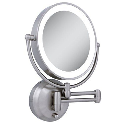 Zadro Led Lighted Wall Mount Mirror 1x To 10x Model No Ledw410 Zadro With Images Wall Mounted Makeup Mirror Wall Mounted Lighted Makeup Mirror Makeup Mirror With Lights
