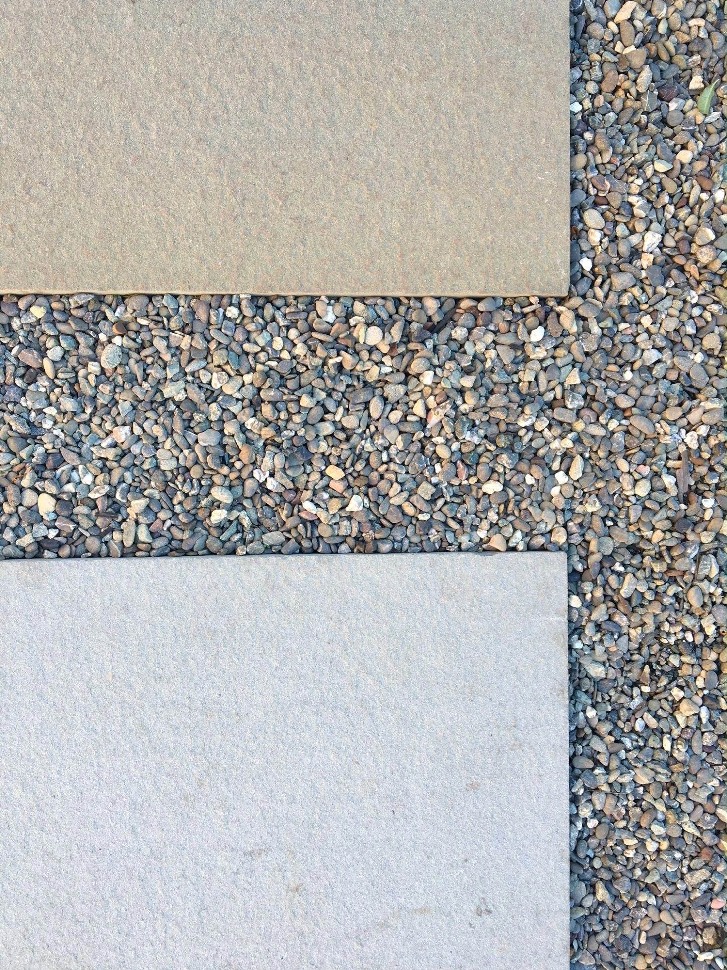 Pea Gravel Filler Is Used As A Permeable Grout Between Oversize Concrete Patio Pavers For More See Hardscaping 101 Pea Gra Backyard Landscaping Build