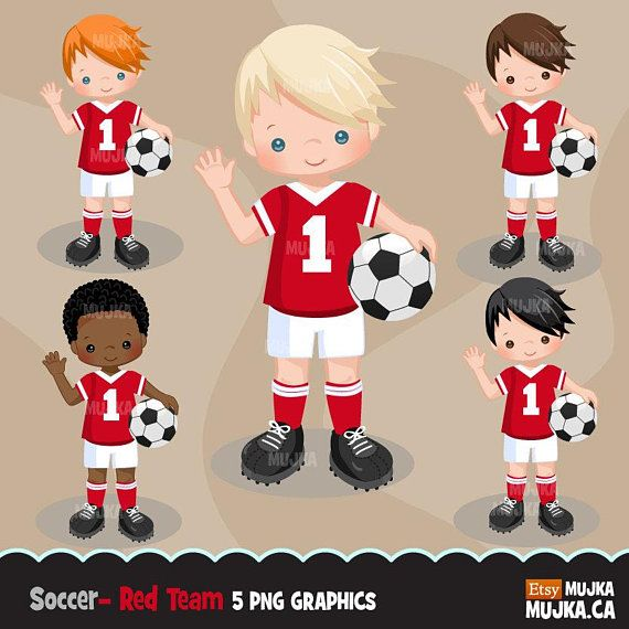 Soccer Clipart Sport Graphics Boys Soccer Player Characters Etsy Sports Graphics Soccer Boys Planner Stickers