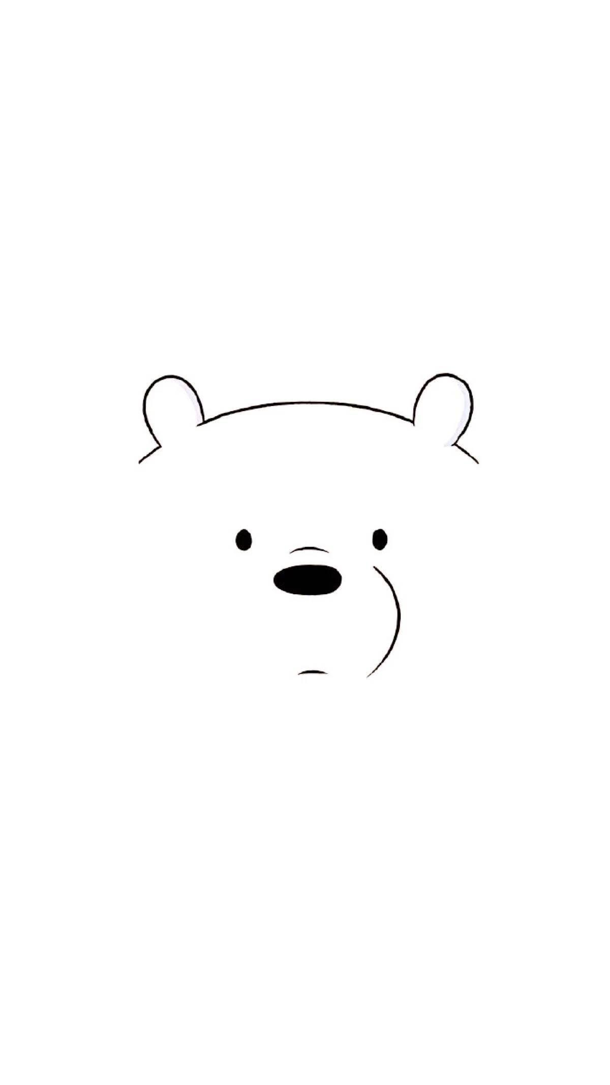 Ice Bear Trendy Wallpaper Plain Wallpaper Bear Wallpaper Kawaii