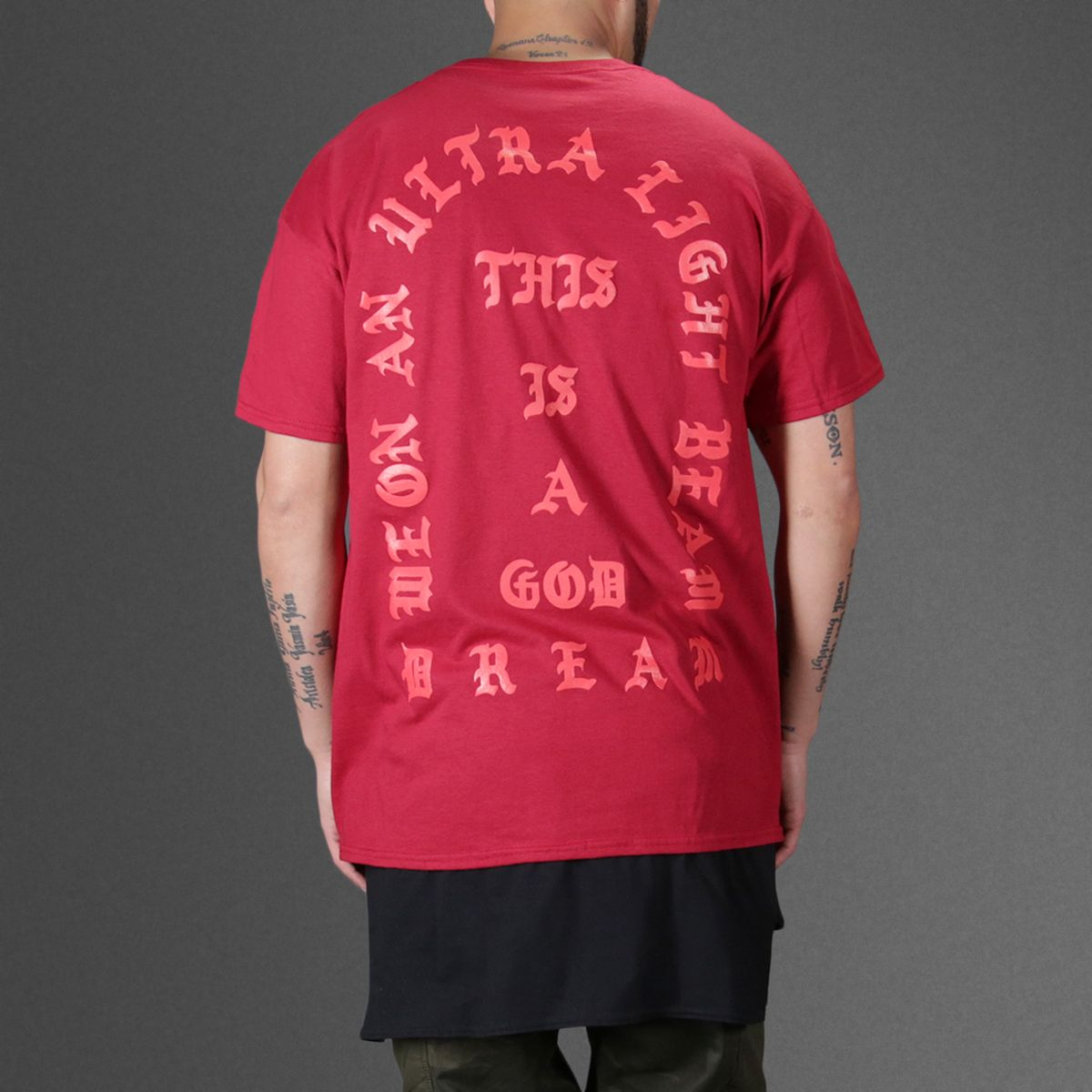 Kanye West I Feel Like Pablo Red T Shirt Wehustle Menswear Womenswear Hats Mixtapes More Red Tshirt Red Tee T Shirt