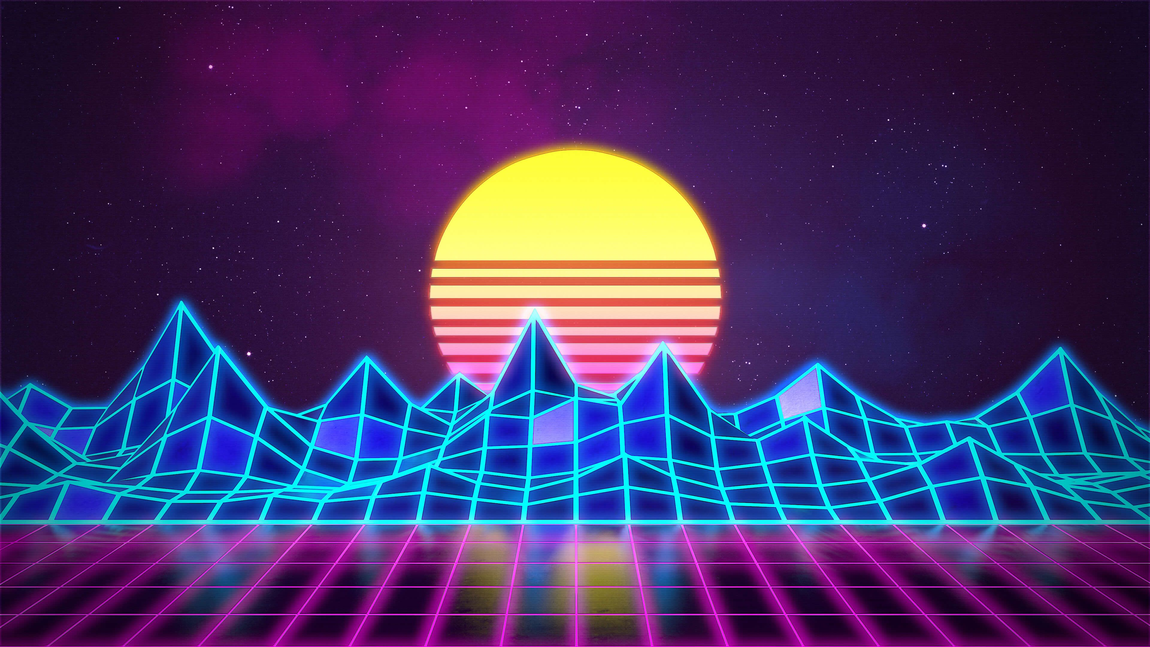 Synthwave Neon 80s Background Marmoset Toolbag