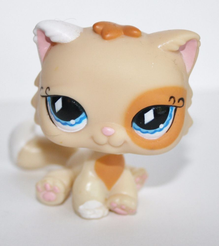 LPS toys Littlest Pet Shop cat PERSIAN cat #521 yellow kitty for Christmas gifts