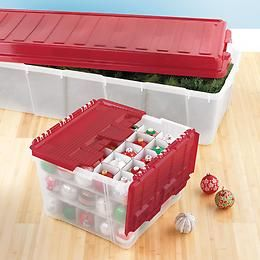 The Container Store Wing Lid Ornament Storage Box Jingle Bells