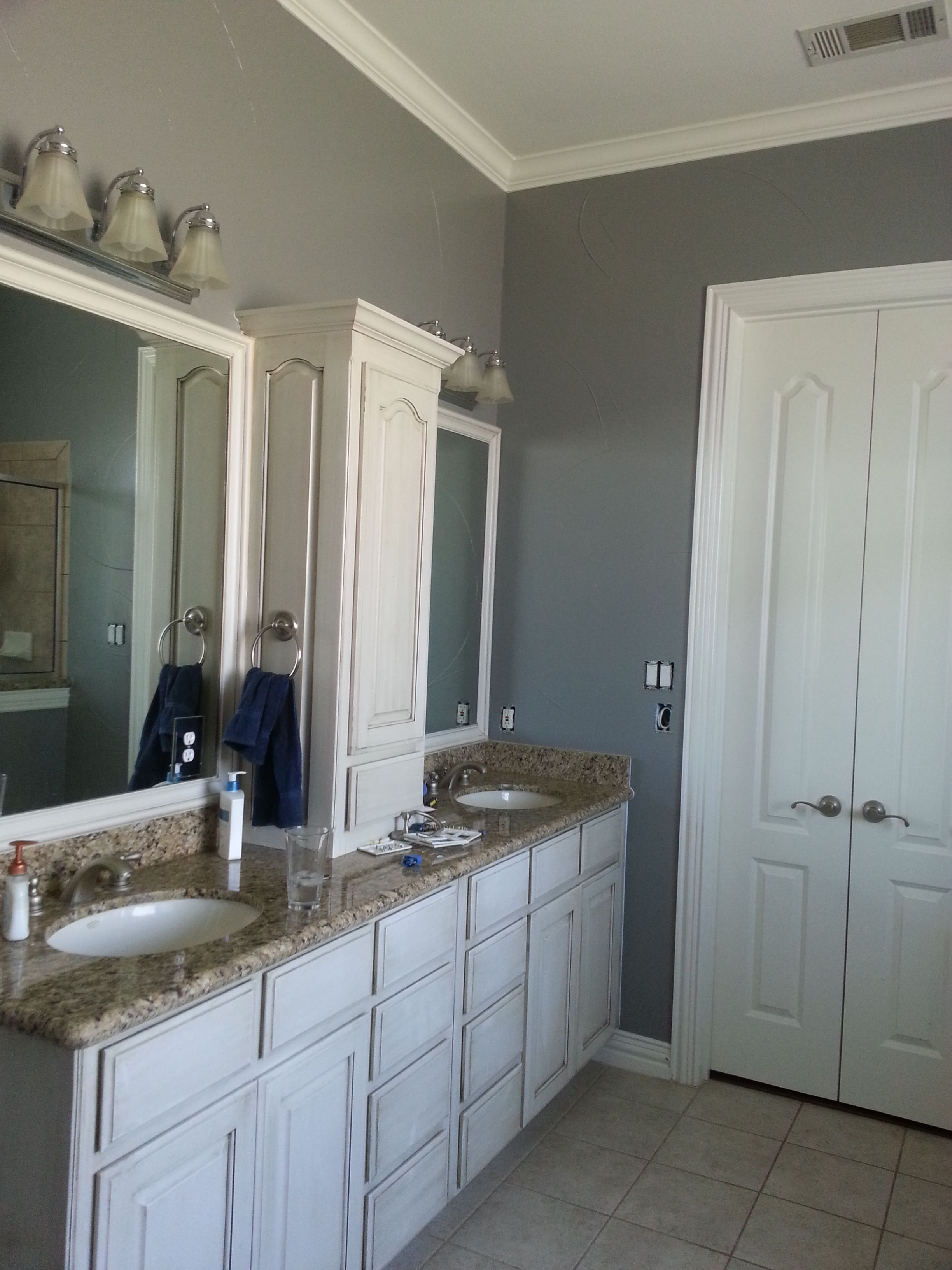 Painted The Basecoat Of My Bathroom With Behr Anonymous