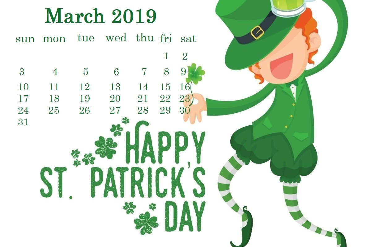 Happy St. Patricks Day Wallpapers Calendar wallpaper, St