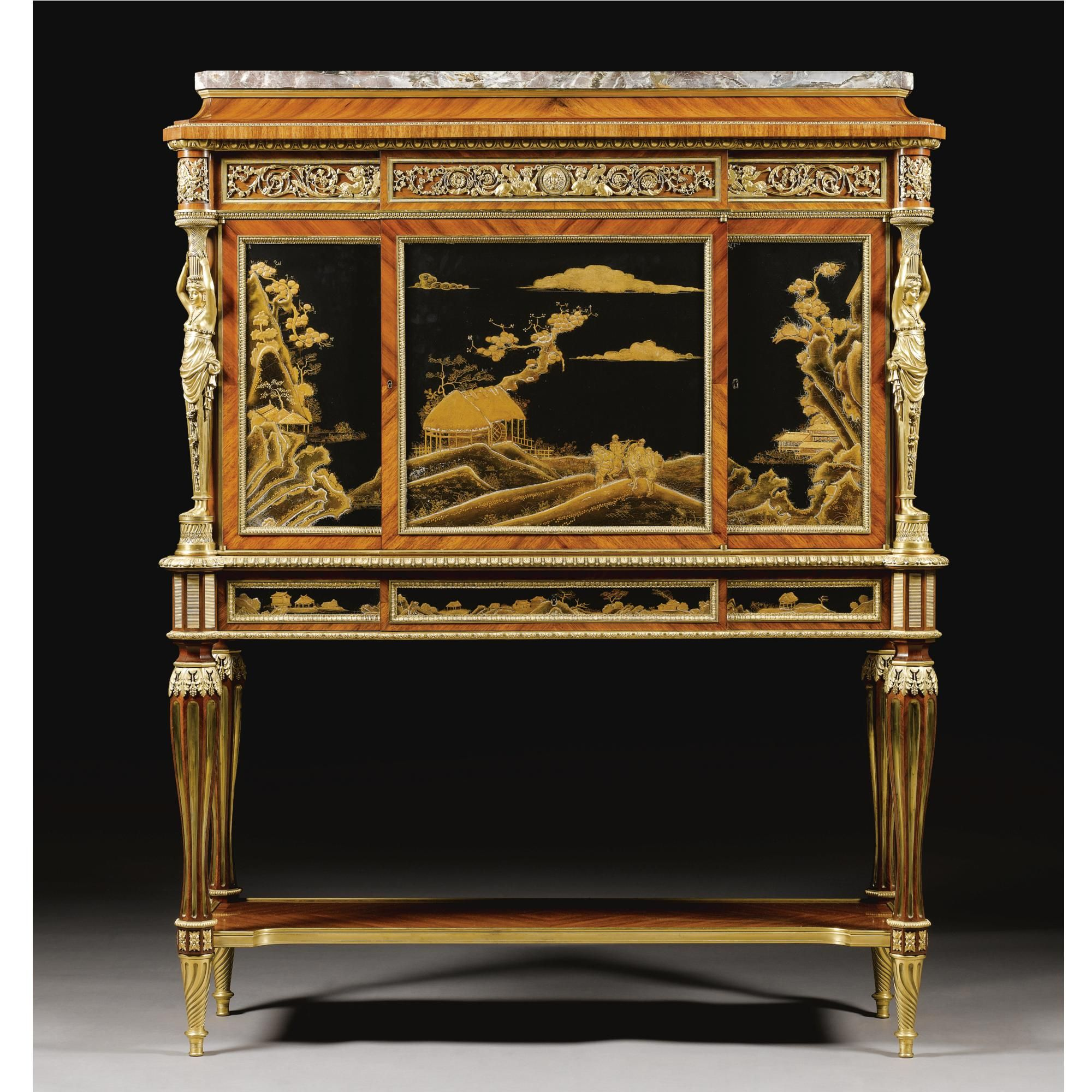 A Gilt Bronze Bois Satin And Japanese Lacquer Cabinet By Maison  # Maison Meble En Bois