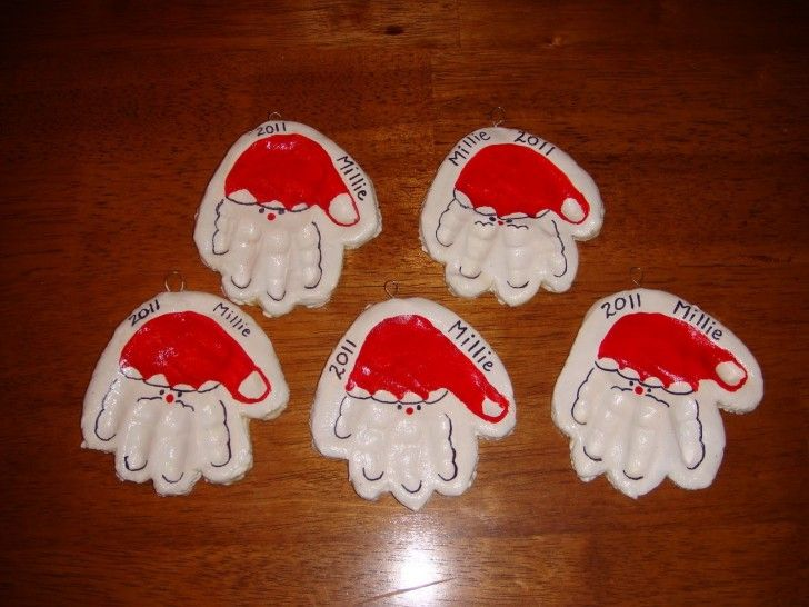 Christmas Crafts For Kids To Make As Gifts Homemade Dough Ornaments Home Made Decoration